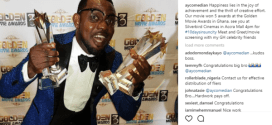 AY's movie wins 5 awards at the just concluded Ghana Golden Movie Awards