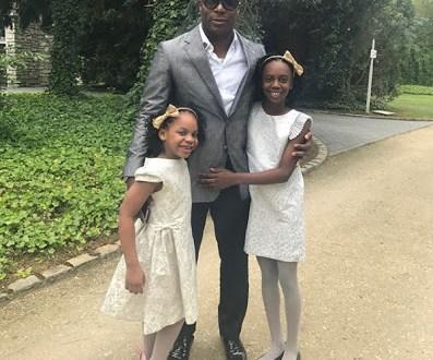 Beautiful photos of Yakubu Aiyegbeni with his daughters