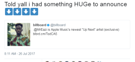 Mr. Eazi is Apple Music's newest 'Up Next' artist