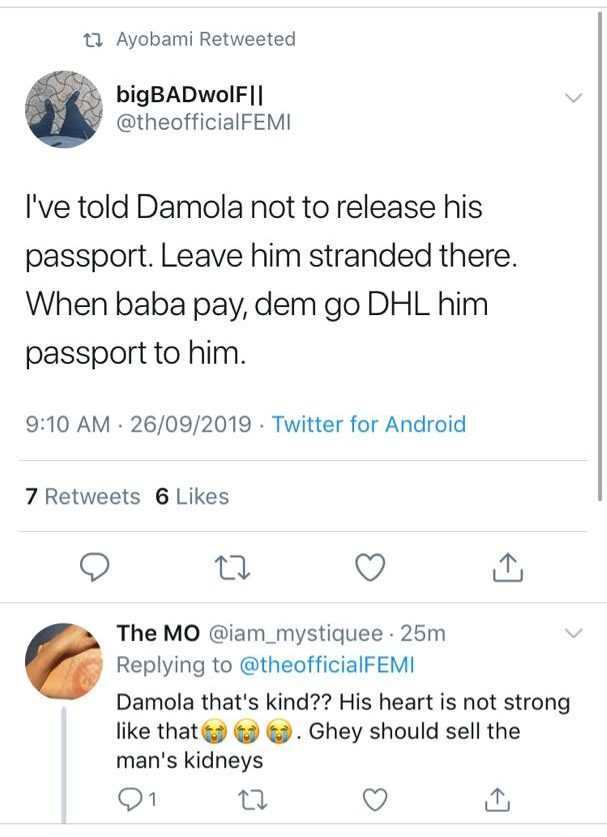 Tour operator calls out man who refused to pay after allegedly flying to Dubai with side chick on credit 15