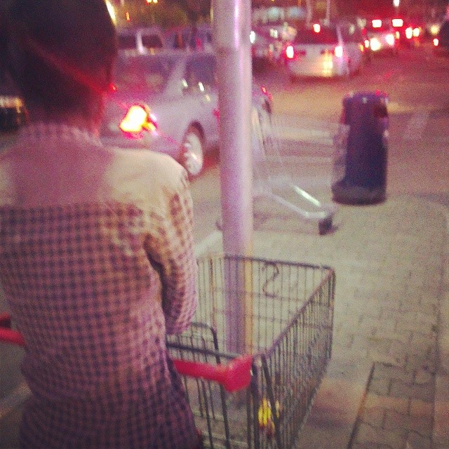 She went to ShopRite to buy 1 Lucozade Boost and used that trolley. Because shopping