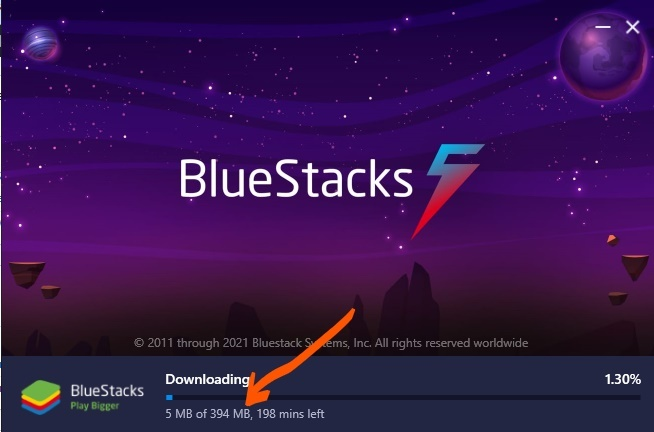 Bluestacks 5 size