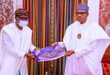 President Muhammadu Buhari and Gov Babajide Sanwo-olu