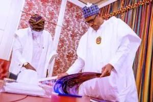 President Muhammadu Buhari and Gov. Babajide Sanwo-Olu