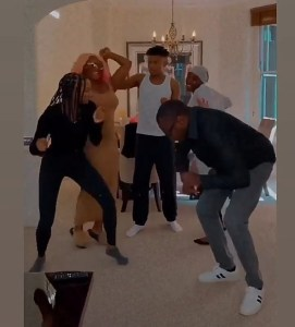 Femi Otedola enjoys a fun day together with his kids at home (Video)