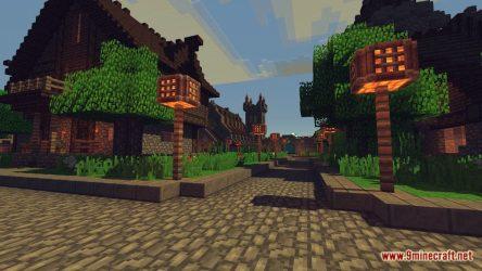map medieval town fantasy minecraft screenshots 9minecraft
