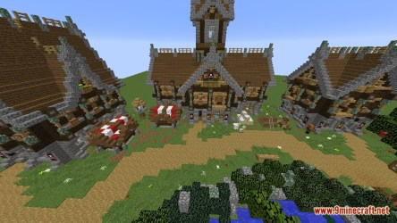 Devixiu s Medieval Town Map 1 12 2/1 12 for Minecraft