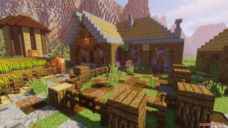 Medieval Village with Castle Map 1 12 2/1 12 for Minecraft 9Minecraft Net