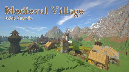 castle map village medieval minecraft maps thumbnail 9minecraft screenshots