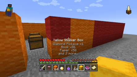 minecraft hud console mod edition shulker 9minecraft contents features equal boxes display requires