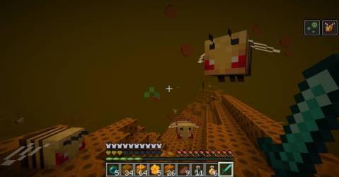mod minecraft 9minecraft unbeelievable dimension bees absorption afterward strength died speed
