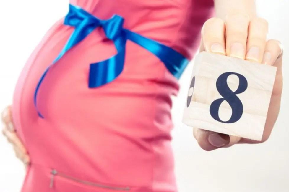 الحمل في الشهر الثامن