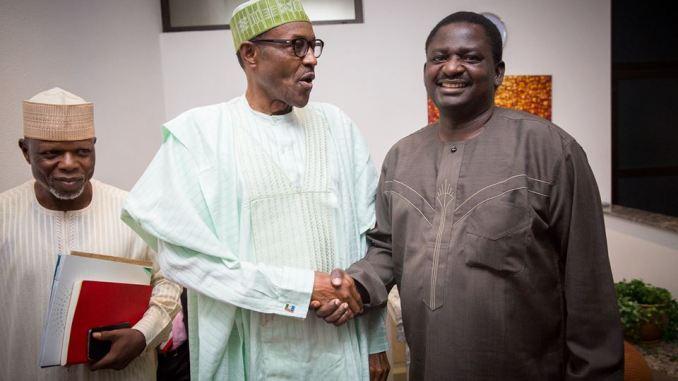Buhari And Femi Adesina