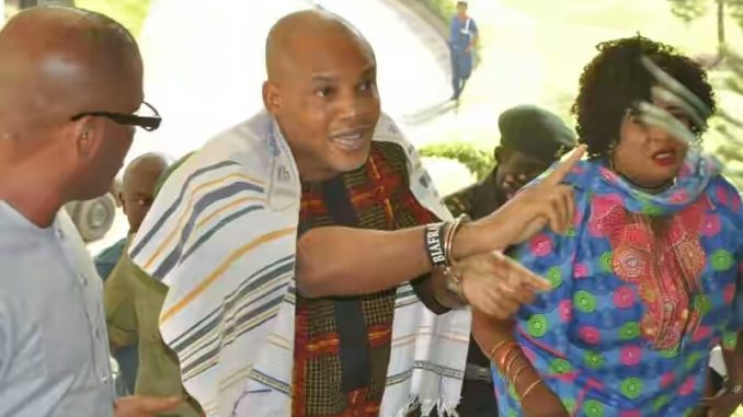 Image result for Nnamdi Kanu came out of hiding to make money from 2019 elections