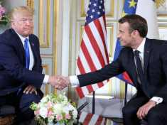 USA President Donald Trump and French President Emmanuel Macron