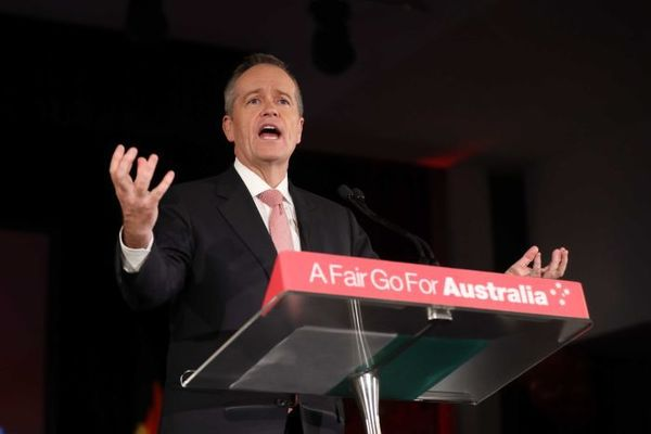 Bill Shorten, Ex Australian Labour Party's leader on an election campaign podium - 9News Nigeria