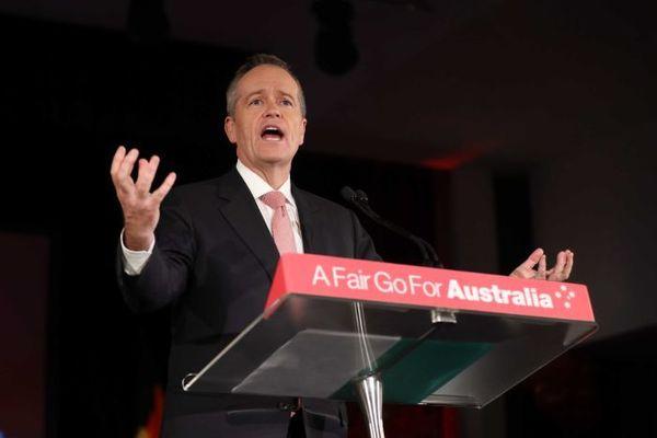 Australian Labor Party's ex leader Bill Shorten in the last 2019 election campaign