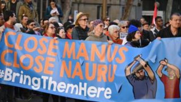 Manus Island refugee camp protest