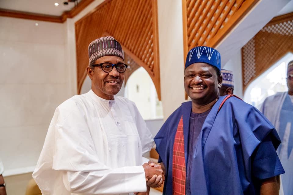 President Buhari and Femi Adesina