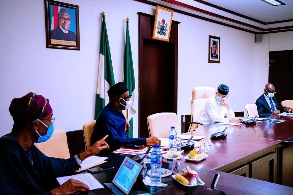 Yemi Osinbajo in a meeting
