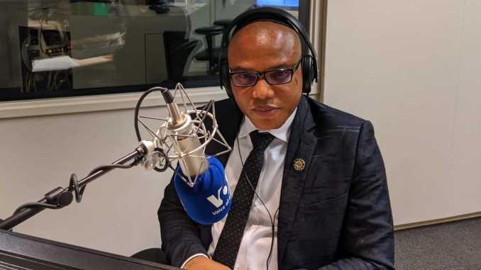Mazi Nnamdi Kanu on live broadcast