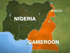 Nigeria and Cameroon border map