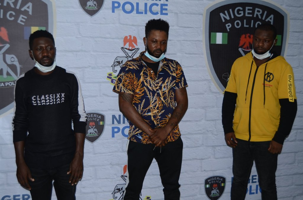 Abuja Interpol Arrests 3 Suspects, Rescues American Lady Confined In Lagos Hotel For 16 Months - images