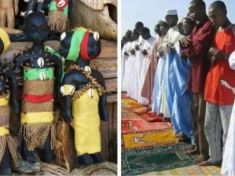 Drama As Islamic Leaders, 'Baba Lawo' Traditional Worshipers Clash Over Ownership Of Corpse In Ogun state