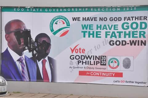 Godwin Obaseki and Philip Shaibu Campaign for Edo Governorship