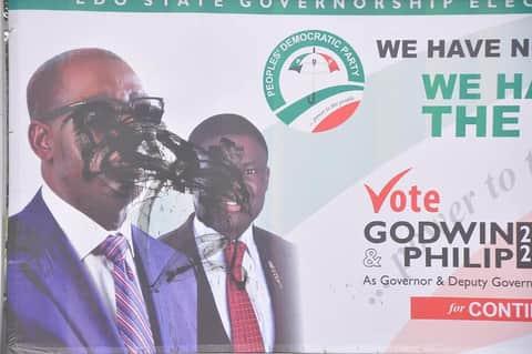 Godwin Obaseki and Philip Shaibu Campaign for Edo Governorship