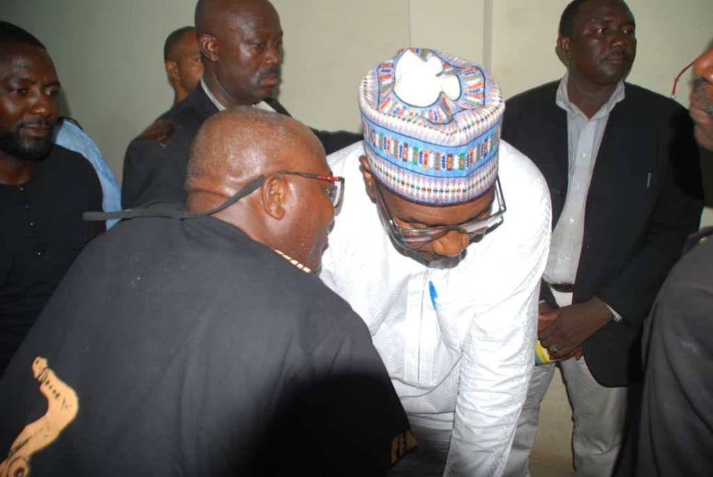 GOVERNOR ABDULRAHMAN ABDULRAZAQ OF KWARA STATE AND COMRADE LUKMAN O. AHMED NATIONAL COORDINATOR FREEDOM NETWORK GROUP