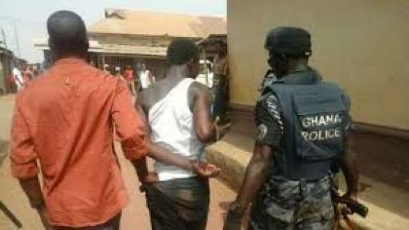 Ghana Police Making Arrest of people who failed to wear face mask