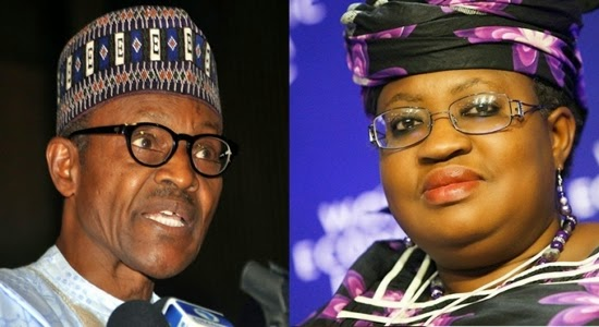 President Muhammadu Buhari and Ex Finance Minister Dr. Ngozi Okonjo Iweala