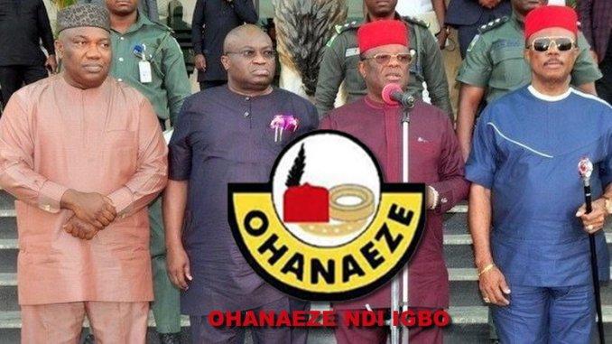 South East Governors and OHANAEZE NDI IGBO