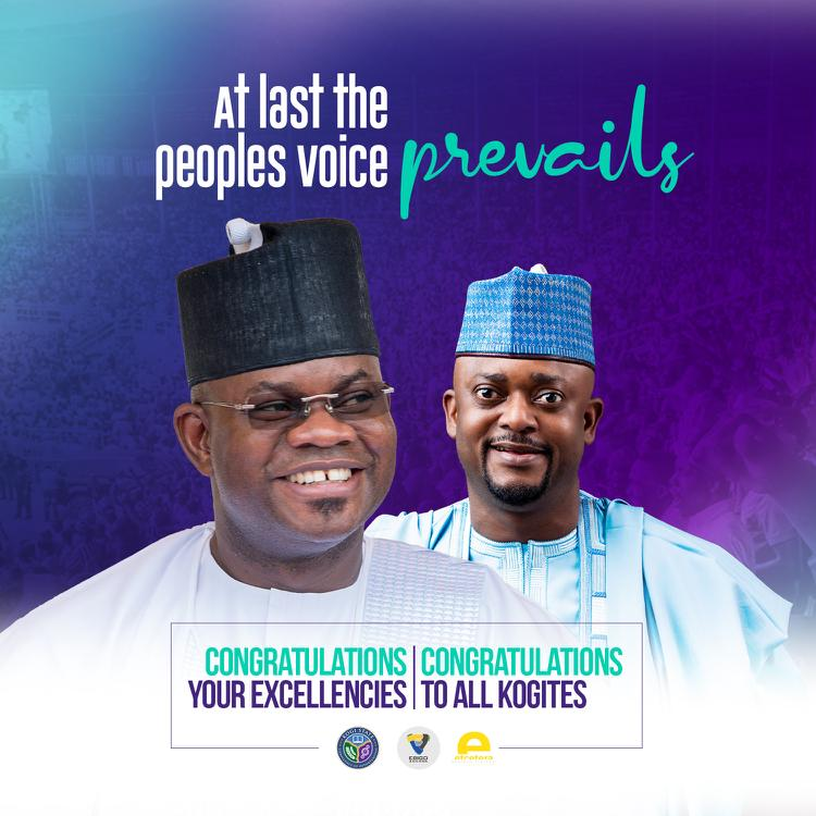 COMRADE LUKMAN O. AHMED HEARTILY CONGRATULATE HIS EXCELLENCY ALH. YAHAYA ADOZA BELLO,THE EXECUTIVE GOVERNOR OF KOGI STATE ON HIS VICTORY @ THE SUPREME  COURT
