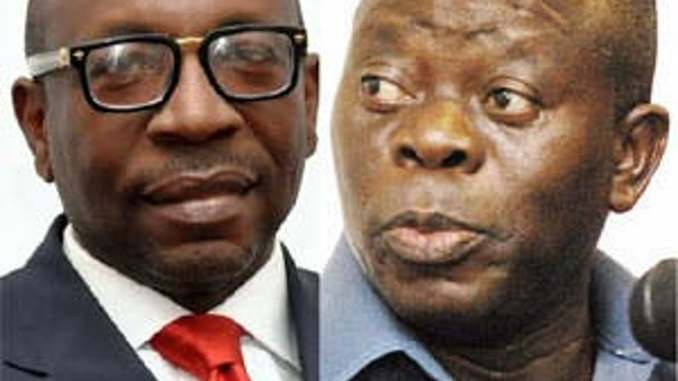 Oshiomhole and Ize-Iyamu