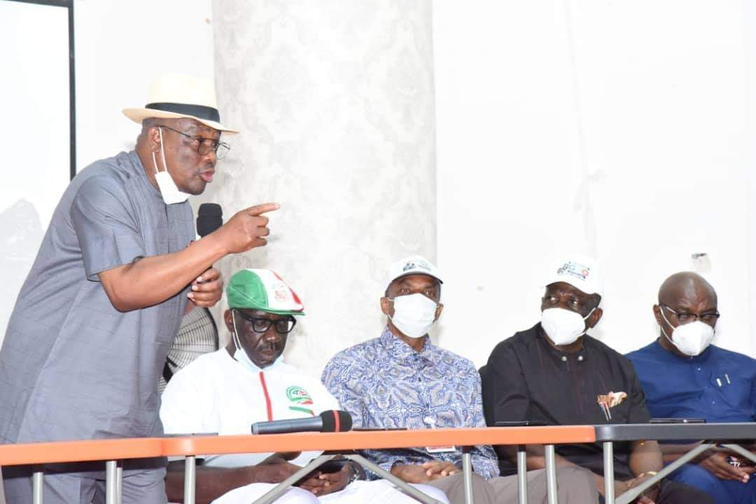 Governor Wike Speaking to other PDP Governors