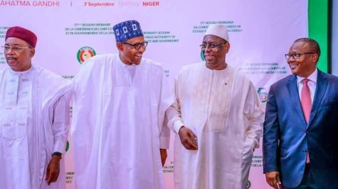 West Africa Leaders at ECOWAS summit Abuja Nigeria