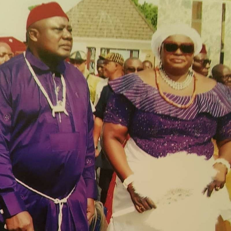 AIG Paul Okafor and wife Chinyere Okafor in a traditional function