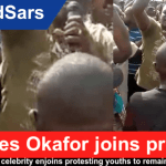 #EndSars: Nollywood celebrity Charles Okafor joins protests, urges youths to remain peaceful (Video)
