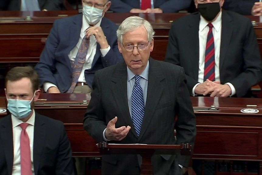 Speaking just before the vote, Senate majority leader Mitch McConnell