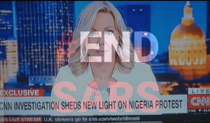 CNN Report on #EndSars protest in Nigeria