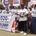 Nigerians March in Support of Donald Trump In USA Presidential Election
