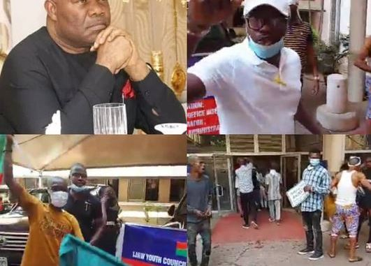 Akpabio On The Run After Angry Ijaw Youths Invaded His Office In Abuja, Calling For His Resignation Over Handling Of NDDC