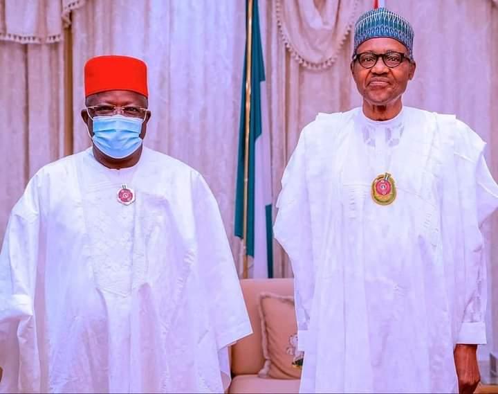 Governor Dave Umahi and President Buhari