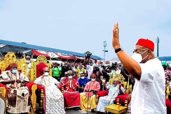 Governor Hope Uzodinma and Royal Fathers