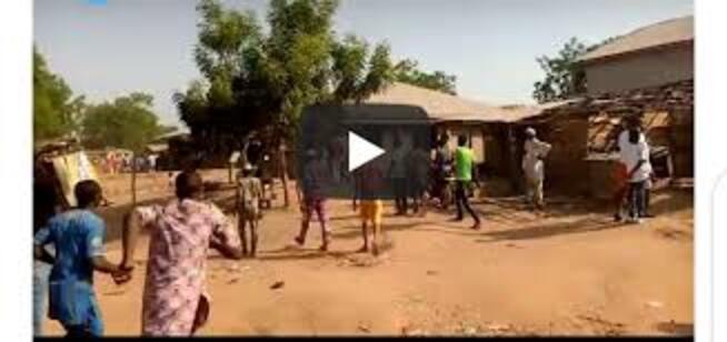 BREAKING!! Heavy Gunshots In Oyo As Igboho & His Boys Chase Fulani Residents From Igangan (Video)