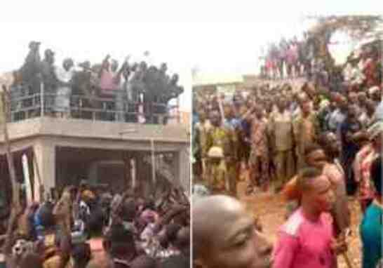 BREAKING!! Heavy Gunshots In Oyo As Igboho & His Boys Chase Fulani Residents From Igangan