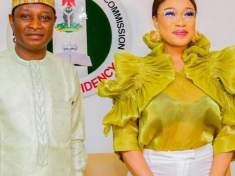 ACTRESS TONTO DIKE BAGS AMBASSADOR OF PEACE AWARD BY NIGERIAN CHRISTIAN PILGRIM COMMISSION