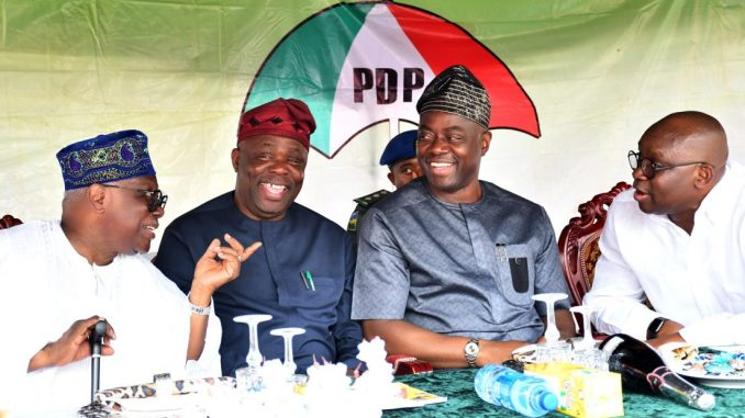Dr Eddy Olafeso and Fayose - South-West PDP